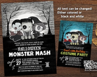 Costume Party Invite Etsy - Halloween costume party flyer