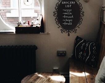 Decorative Frame Chalkboard Wall Sticker - Wall Decal Custom Chalkboard Vinyl Art Stickers