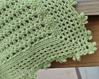 Hand crochet baby blanket, crochet baby afghan, lightweight baby blanket, lacy baby blanket, custom baby afghan, newborn baby blanket