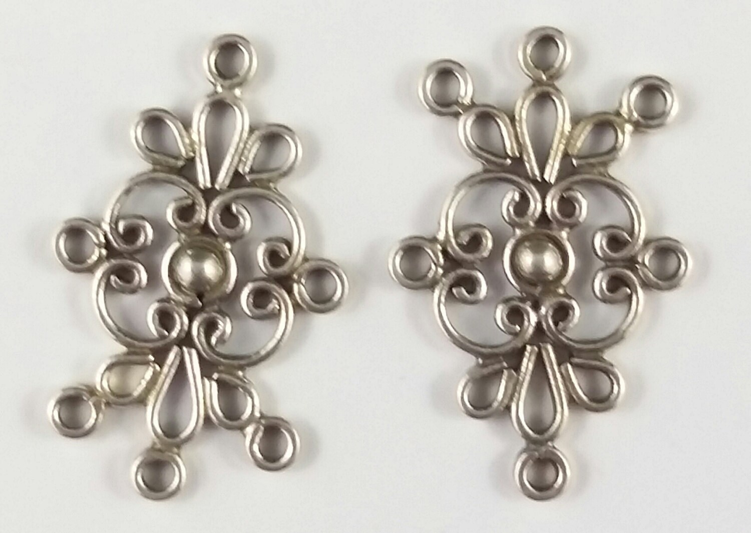 2 x sterling silver chandelier pendant component earring connectors sold by exoticartistry arubaitofo Image collections