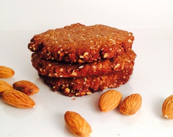 16 Paleo Almond Butter Cookies, Gluten Free, Grain Free, Dairy Free