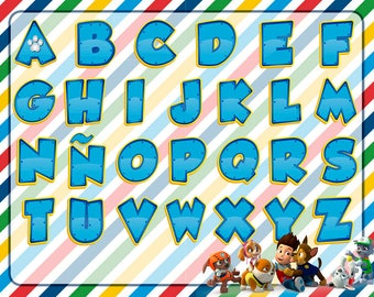 Alphabet Paw Patrol PNG HD + Clipart Free