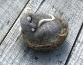 Nite before Christmas Sleeping Mouse in Nest