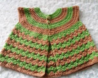 Handmade crocher baby shell stich cardigan