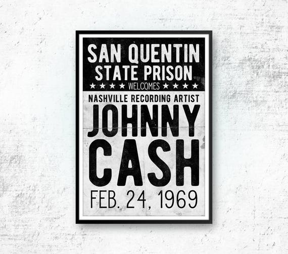 Johnny Cash Art Print Poster Country Music