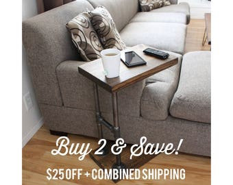 BOGO - Industrial Furniture, Coffee Table, Side Table, Laptop Stand, End Table, Computer Table - CTABLE