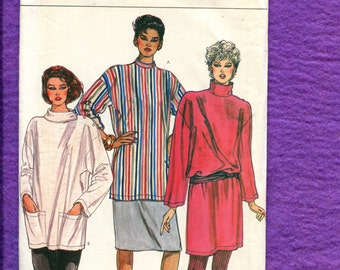 1980's Vogue 8465 Military Tunics with Shoulder Buttons & Stand Up Collar Size 14 UNCUT