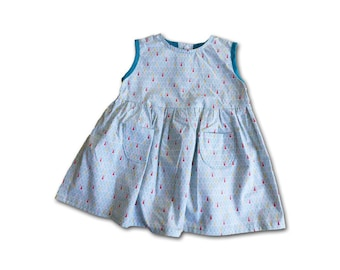 Dress and bloomer 12 months / birthday gift / dress and panties