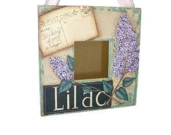 Hand Painted Lilacs on Ikea Mirror | I Will Personalize Postcard