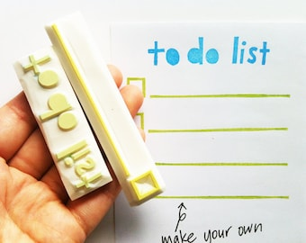 to do list rubber stamps | reminder stamp | diy planner goals | home stationery | for art journal | hand carved by talktothesun | set of 2