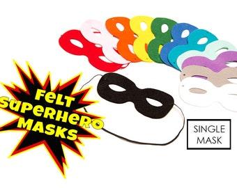 Felt Mask Superhero Mask Thick Felt Mask SINGLE Mask