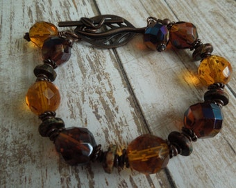 Honey Golden Leaves Bracelet