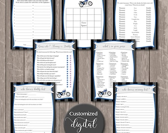 Digital Motorcycle Baby Shower package, Instant Download
