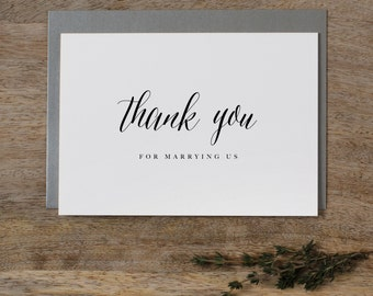 Thank you for Marrying Us - Wedding Card to Officiant, Priest Thank You Card, Thank You Minister, Judge, Pastor, Priest, Thank You Cards, K7