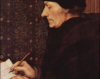 Poster, vele maten beschikbaar; Desiderius Erasmus Von Rotterdam