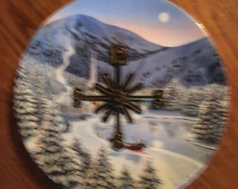 Winter Wonderful, adorable clock plate !