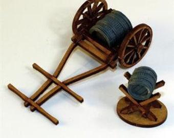 28mm Terrain: Water Cart & Jack - 4Ground Miniatures