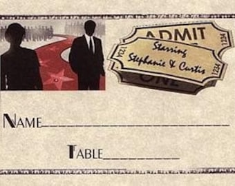 Hollywood Movie Wedding Favor Place Cards qty 50