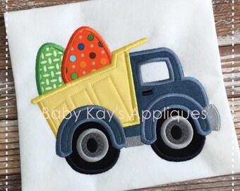 Easter Egg Dump Truck Applique Design 4x4, 5x7, 6x10, 8x8