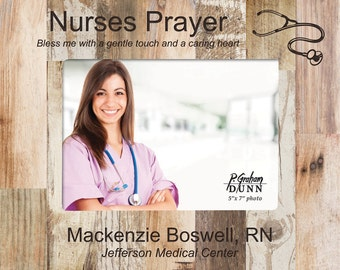 Personalized Nurse Pallet Photo Frame - Engraved Nurse's Picture Frame - Nurse Gift - Nurse Graduation Gift