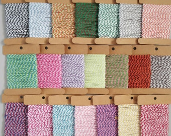 10mts 12 ply cotton Bakers Twine 21 colours