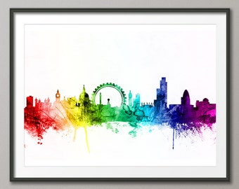 London Skyline, London Cityscape England, Art Print (2445)