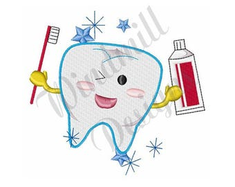 Tooth & Brush - Machine Embroidery Design