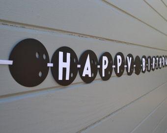 Bowling-Happy Birthday Banner mit persönlichen Namen