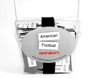 American Football Poetry Magnets - Refrigerator Word Quote Magnets - NFL - Free US Shipping