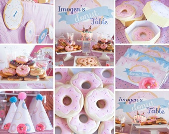 Donut Birthday Party Package COMPLETE | Donut Party | Donut Party Invitations | Doughnut Party | Donut Printables |