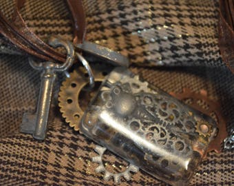 Steam punk insect necklace