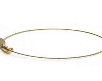 Guitar String Bracelet // Gold Bangle Bracelet / Charm Bracelet / Eco-Friendly Jewelry / Guitar String Jewelry / Friendship Bracelet / Music