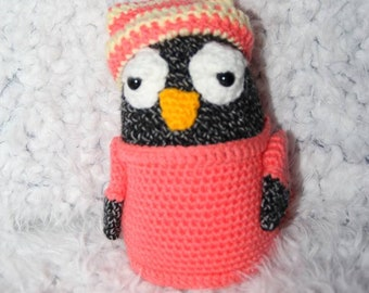 Crochet penguin plush amigurumi toy handmade