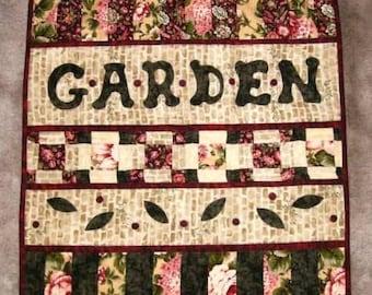 Steppdecke, Garten Mini Quilt, Applique Wand hängen, kostenloser Versand von U.S.