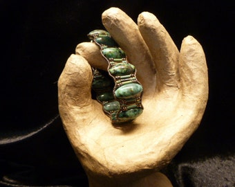 One of a kind chunky African turquise bracelet