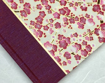 Unique Guest Book or Journal - Magenta Cherry Blossom-Perfect for Wedding Guest Book, Sketchbook, Funeral, Memorial, Personalized Guest Book