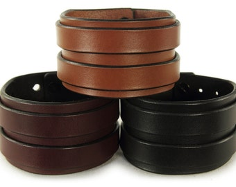 Premium Italian Leather Cuff - Two Stroke