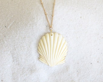 Seashell, Necklace, 14k Gold Filled Chain, Tahitian, Pendant, Floating, Hawaiian, Festival, Etsy, Wire, Sunrise, Necklace, Mermaid, Pearl
