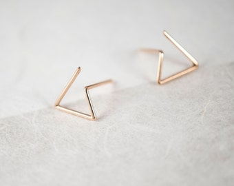 Dainty gold studs Rose gold studs Rose Gold Post Delicate studs Inspirational womens gift