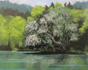 Passing - Original River Landscape Painting