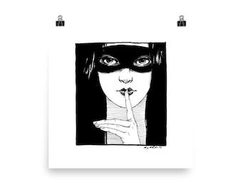Shhhhhhhh Print By Amy Abshier