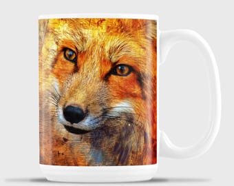 Stylized Red Fox Face Mug