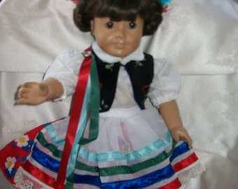 Polish folk dancer for your American girl doll