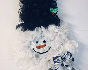 Snowman wreath, Snowman door wreath, Large Christmas wreath, Snowman Christmas, Snowman, Snowman Christmas wreath, Kelea's