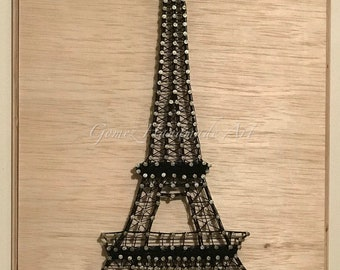 String Art Eiffel Tower, Made to Order, Customizable