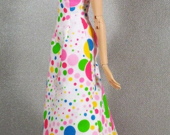 Couleurs* Maxi  Multicolored  Coton Dress for Sybarite Dolls.