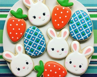 One Dozen Easter Sugar Cookies - LIMITED QUANTITY