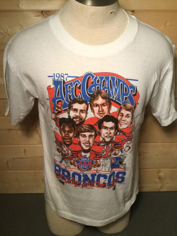 2966e2a57aa Vintage INCREDIBLE 1980 s Denver Broncos Super Bowl John