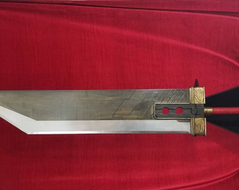 "Hardened steel full-scale Cloud Strife ""Crisis Core"" style Buster Sword from Final Fantasy 7 (MADE TO ORDER)"