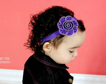 Baby Headbands.Infant Baby Headband.Baby Girl Headbands.Baby Hair Accessories.Zipper Flower Headband.Zipper Flower.Zipper Headband.Zipper